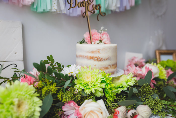 Floral garland from a Best Day Ever Pretty Pastel Birthday Party on Kara's Party Ideas   KarasPartyIdeas.com (6)