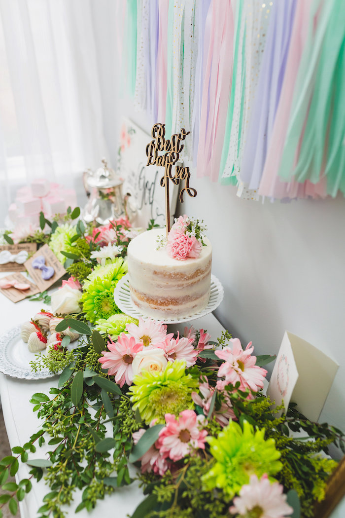 Best Day Ever Pretty Pastel Birthday Party on Kara's Party Ideas   KarasPartyIdeas.com (4)