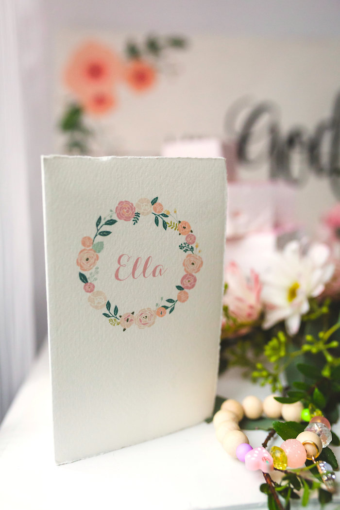 Invitation + floral card from a Best Day Ever Pretty Pastel Birthday Party on Kara's Party Ideas   KarasPartyIdeas.com (33)