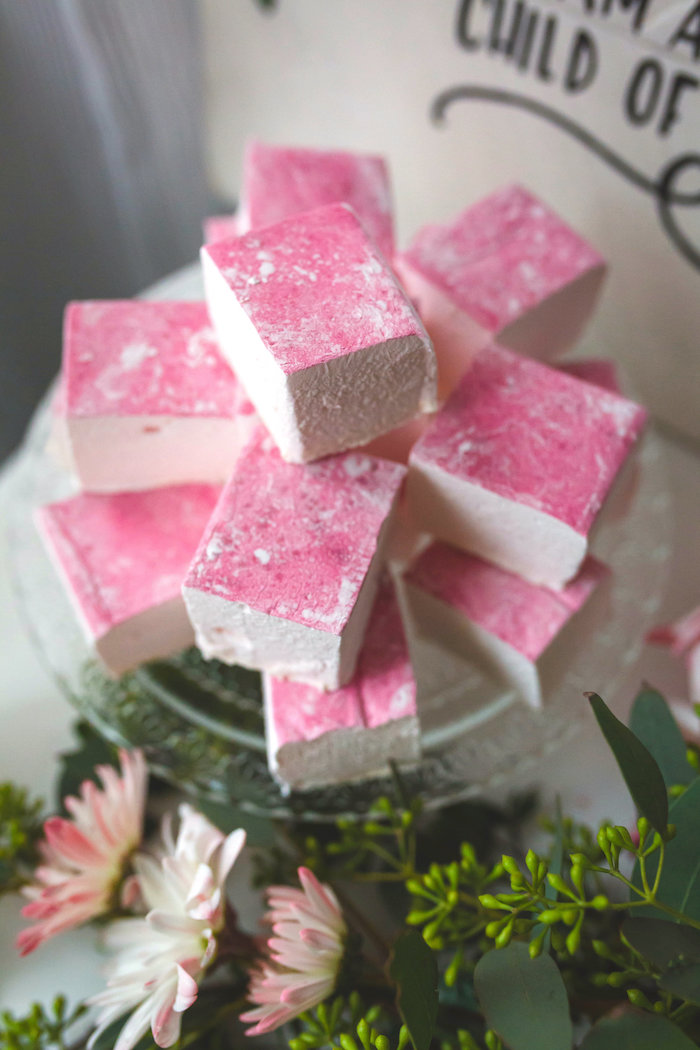 Pink marshmallow treats from a Best Day Ever Pretty Pastel Birthday Party on Kara's Party Ideas   KarasPartyIdeas.com (30)