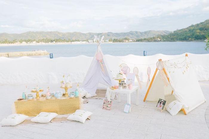 Bohemian Beach Tea Party on Kara's Party Ideas | KarasPartyIdeas.com (38)
