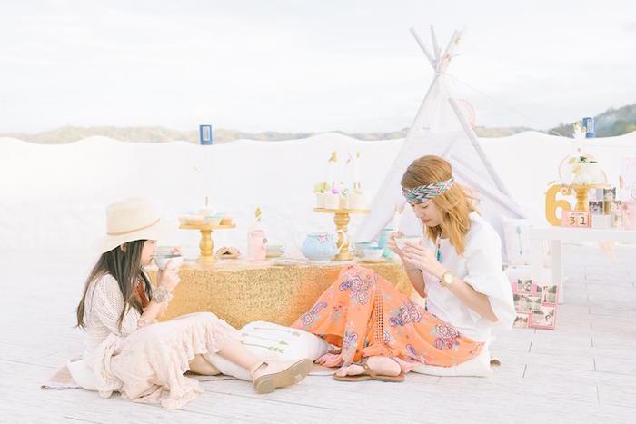 Bohemian Beach Tea Party on Kara's Party Ideas | KarasPartyIdeas.com (49)