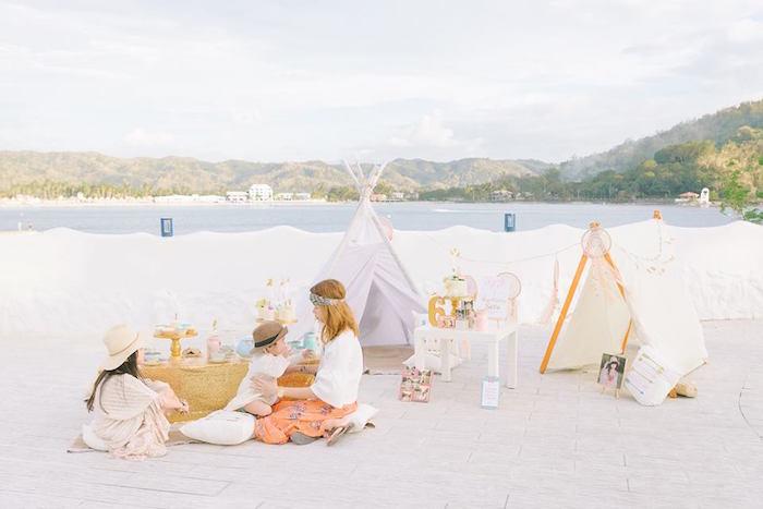 Bohemian Beach Tea Party on Kara's Party Ideas | KarasPartyIdeas.com (24)