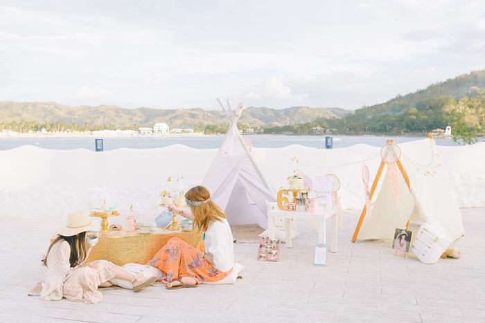 Bohemian Beach Tea Party on Kara's Party Ideas | KarasPartyIdeas.com (16)