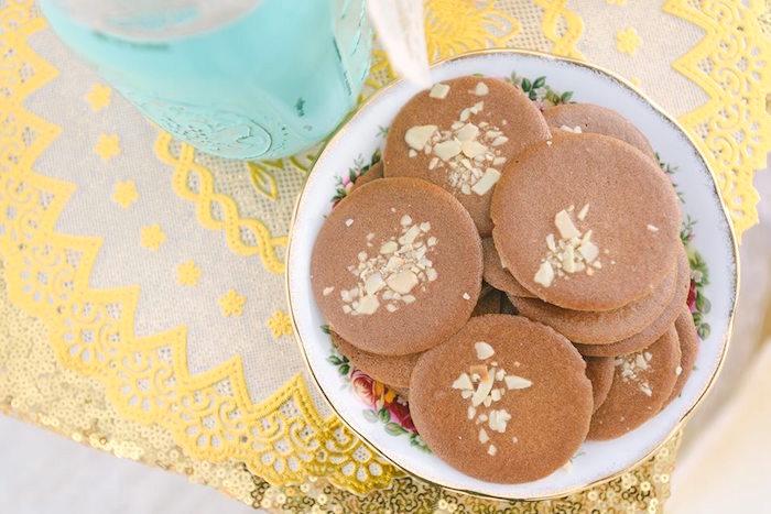 Ginger cookies from a Bohemian Beach Tea Party on Kara's Party Ideas | KarasPartyIdeas.com (9)