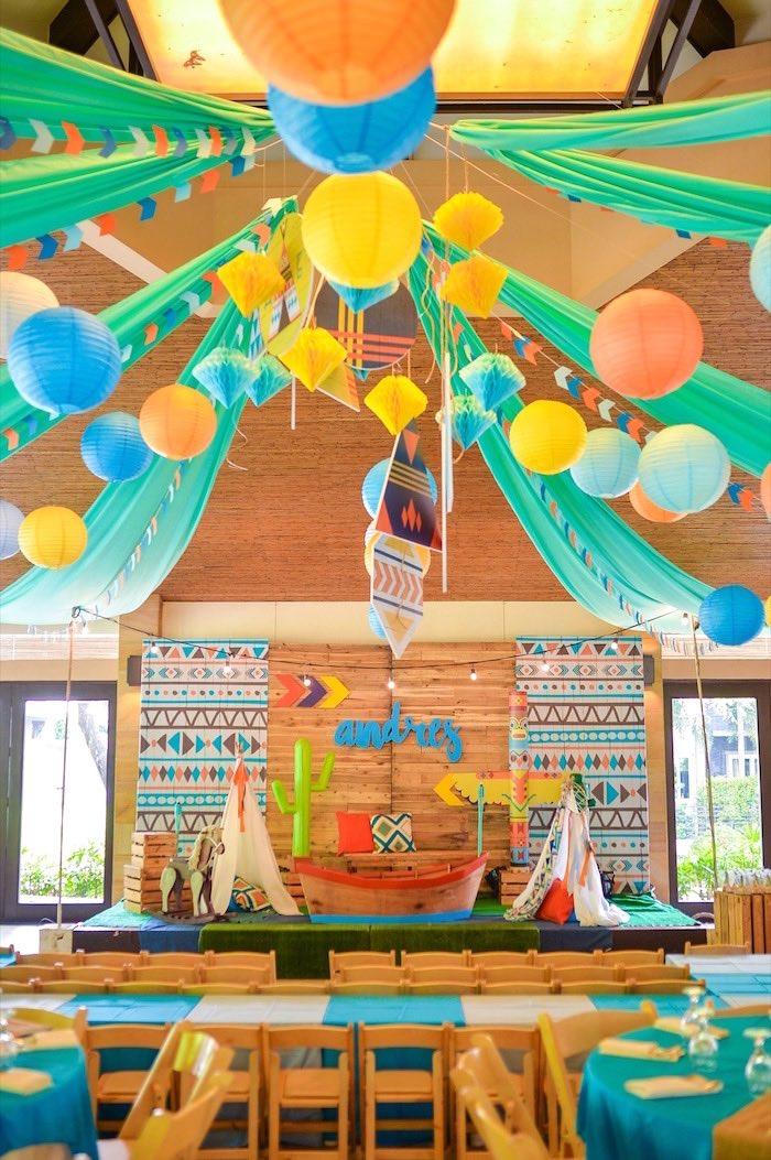Boho Tribal 1st Birthday Party on Kara's Party Ideas | KarasPartyIdeas.com (27)