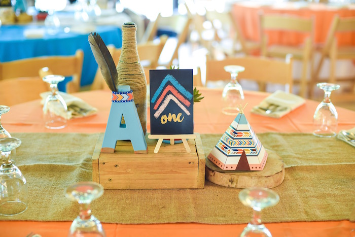Guest tablescape from a Boho Tribal 1st Birthday Party on Kara's Party Ideas | KarasPartyIdeas.com (19)