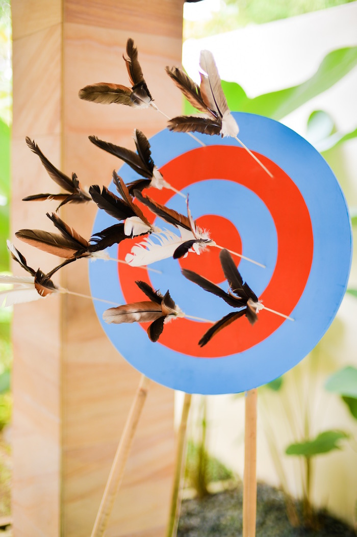 Arrow target from a Boho Tribal 1st Birthday Party on Kara's Party Ideas | KarasPartyIdeas.com (32)
