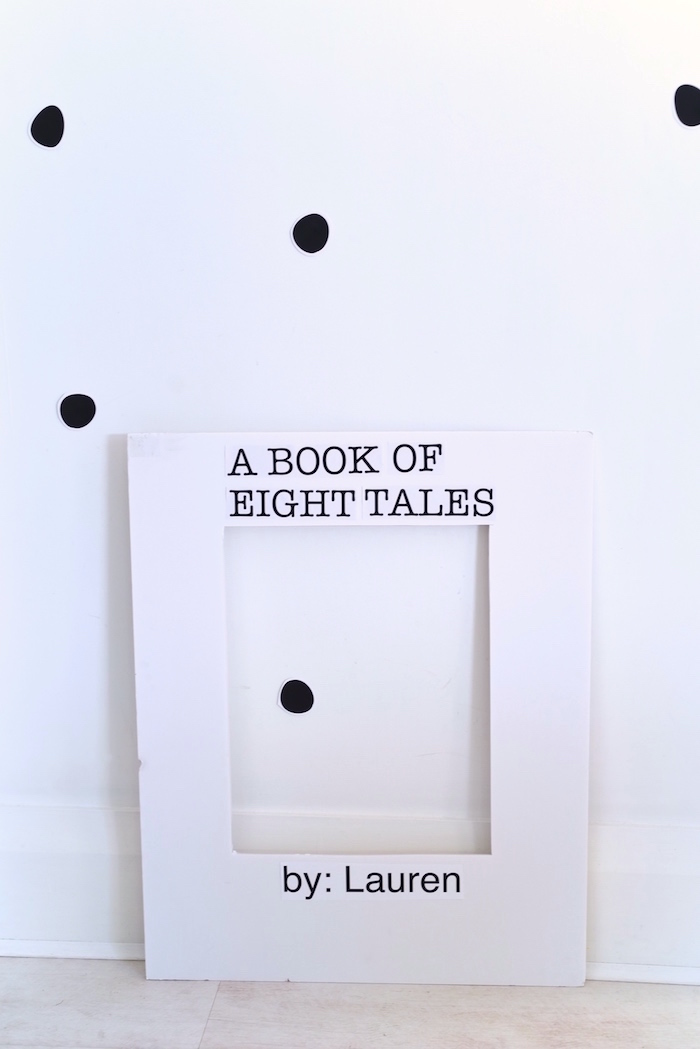 Book-inspired photo frame from a Bookworm Themed Book Exchange Birthday Party on Kara's Party Ideas | KarasPartyIdeas.com (7)