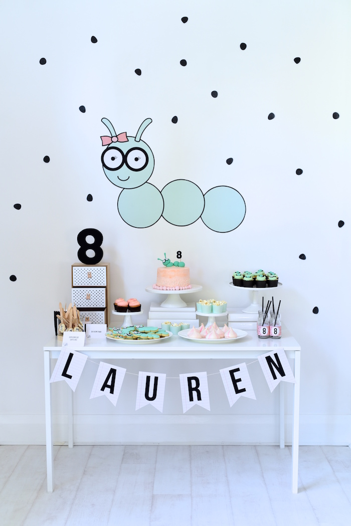 Bookworm Themed Book Exchange Birthday Party on Kara's Party Ideas | KarasPartyIdeas.com (5)