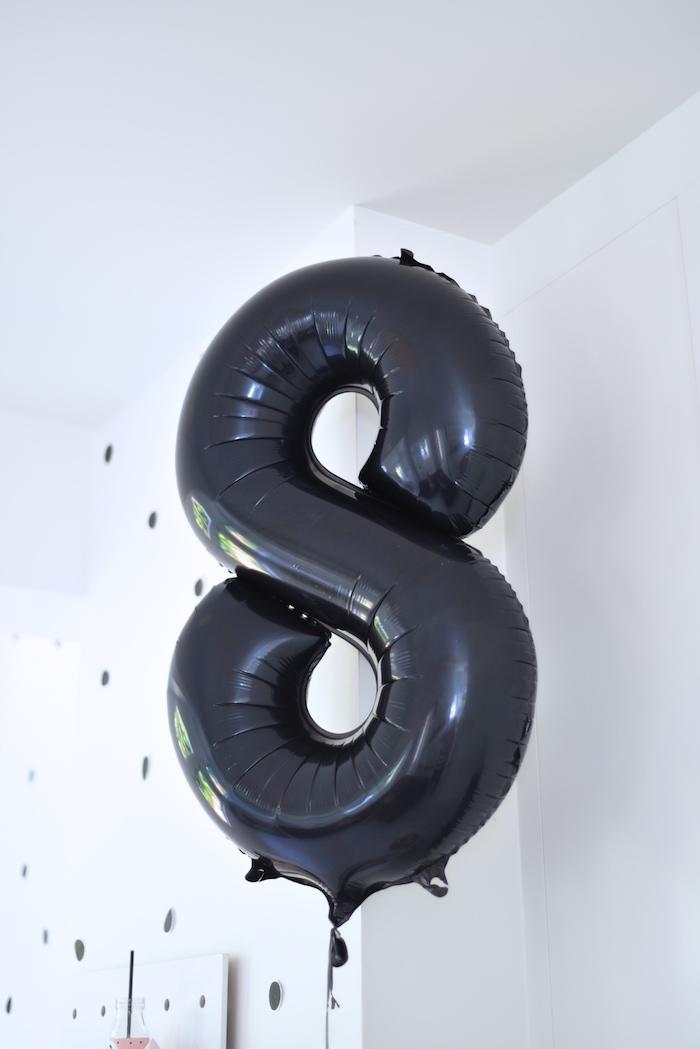 Mylar 8 balloon from a Bookworm Themed Book Exchange Birthday Party on Kara's Party Ideas   KarasPartyIdeas.com (4)