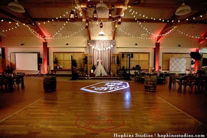 Dance floor from a Camping Themed Bar Mitzvah Celebration on Kara's Party Ideas   KarasPartyIdeas.com (62)