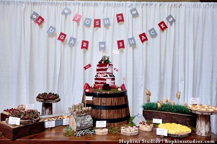 Dessert table from a Camping Themed Bar Mitzvah Celebration on Kara's Party Ideas | KarasPartyIdeas.com (61)