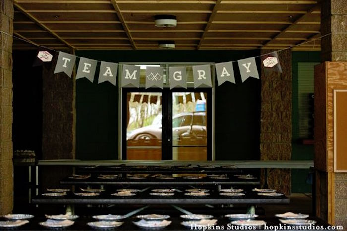 Lunch tables from a Camping Themed Bar Mitzvah Celebration on Kara's Party Ideas | KarasPartyIdeas.com (59)