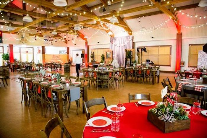 Kara S Party Ideas Camping Themed Bar Mitzvah Celebration