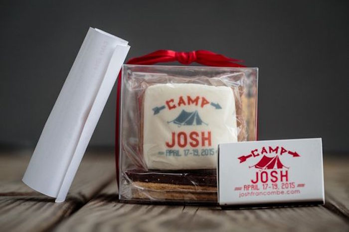 Party favors from a Camping Themed Bar Mitzvah Celebration on Kara's Party Ideas | KarasPartyIdeas.com (81)