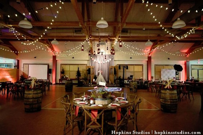 Dining partyscape from a Camping Themed Bar Mitzvah Celebration on Kara's Party Ideas | KarasPartyIdeas.com (31)
