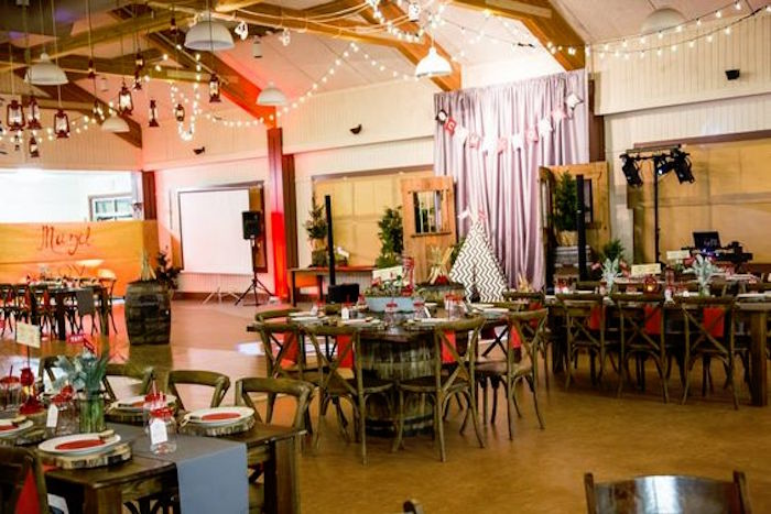 Camper's mess/dining hall from a Camping Themed Bar Mitzvah Celebration on Kara's Party Ideas | KarasPartyIdeas.com (30)