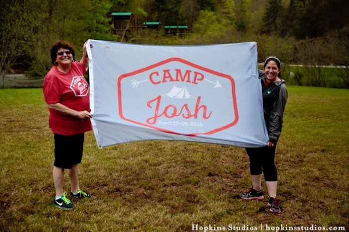 Custom camp flag from a Camping Themed Bar Mitzvah Celebration on Kara's Party Ideas | KarasPartyIdeas.com (26)