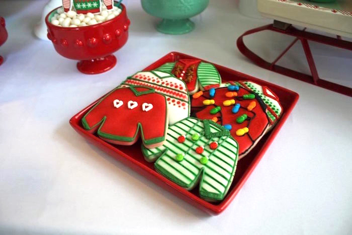 Ugly sweater sugar cookies from a Christmas Ugly Sweater Party on Kara's Party Ideas | KarasPartyIdeas.com (9)