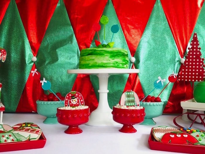 Cakescape from a Christmas Ugly Sweater Party on Kara's Party Ideas | KarasPartyIdeas.com (3)