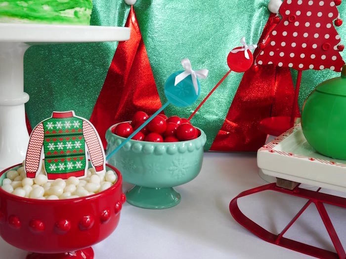 Candy dishes from a Christmas Ugly Sweater Party on Kara's Party Ideas | KarasPartyIdeas.com (17)