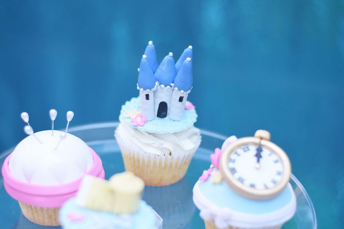 Castle cupcake from a Cinderella Birthday Party on Kara's Party Ideas | KarasPartyIdeas.com (34)