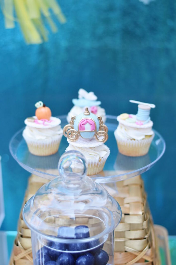 Cinderella cupcakes from a Cinderella Birthday Party on Kara's Party Ideas | KarasPartyIdeas.com (33)