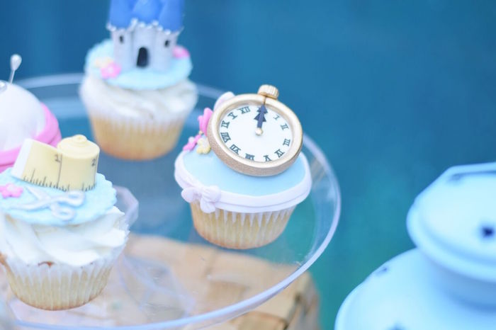 Cinderella clock strike cupcake from a Cinderella Birthday Party on Kara's Party Ideas | KarasPartyIdeas.com (32)