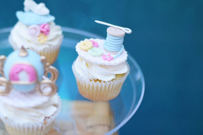 Cinderella thread and needle cupcake from a Cinderella Birthday Party on Kara's Party Ideas | KarasPartyIdeas.com (31)