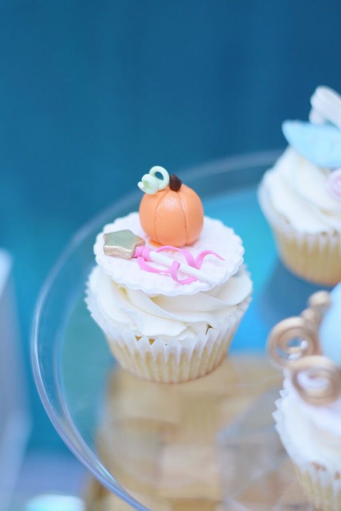 Pumpkin and fairy wand cake topper from a Cinderella Birthday Party on Kara's Party Ideas | KarasPartyIdeas.com (29)