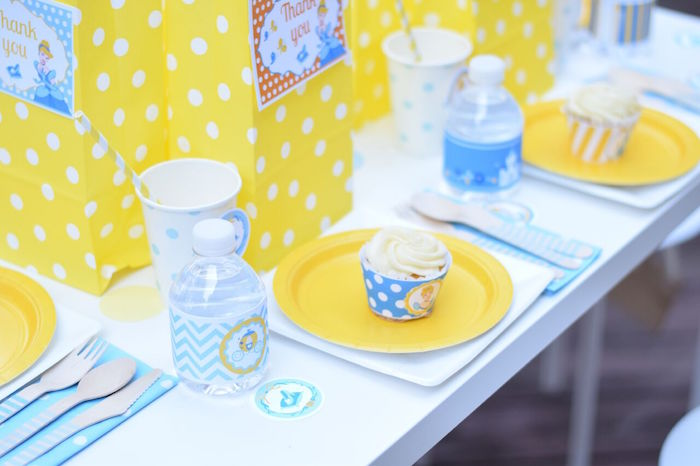 Place setting from a Cinderella Birthday Party on Kara's Party Ideas | KarasPartyIdeas.com (25)