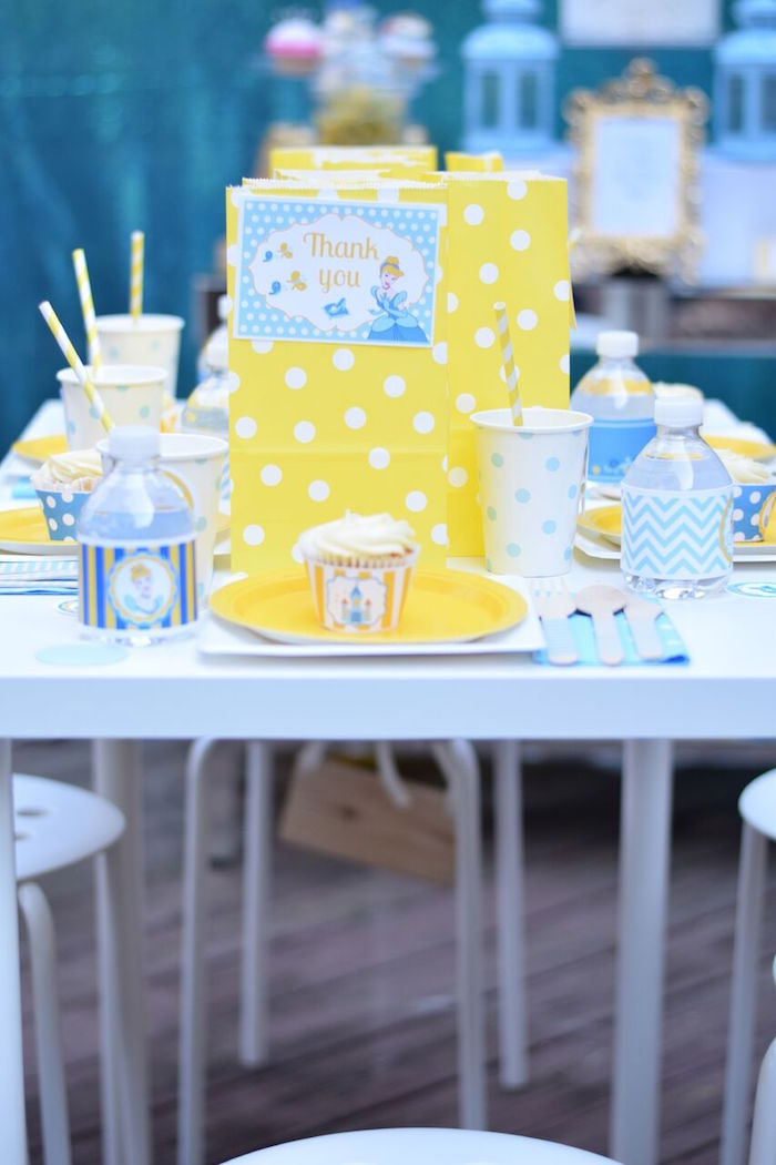 Guest table from a Cinderella Birthday Party on Kara's Party Ideas | KarasPartyIdeas.com (24)