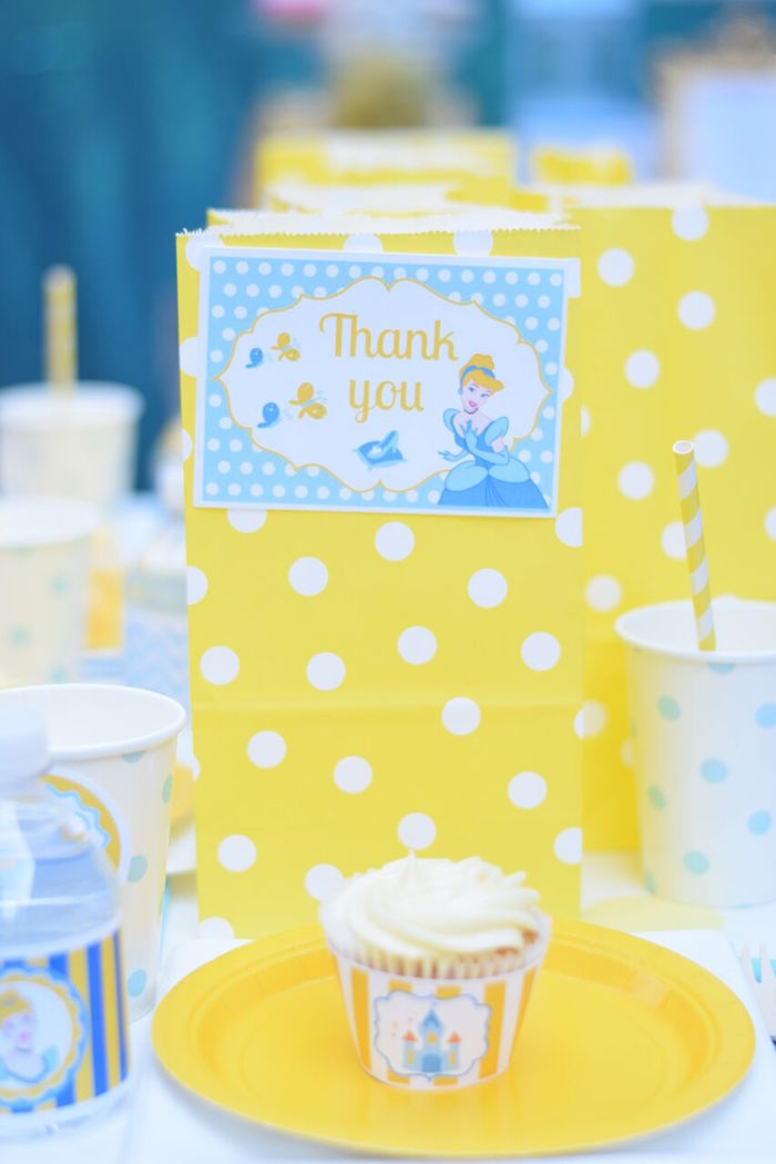 Cinderella favor bag from a Cinderella Birthday Party on Kara's Party Ideas | KarasPartyIdeas.com (21)