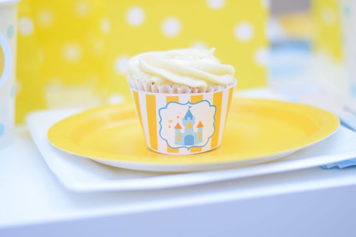 Cinderella cupcake from a Cinderella Birthday Party on Kara's Party Ideas | KarasPartyIdeas.com (18)