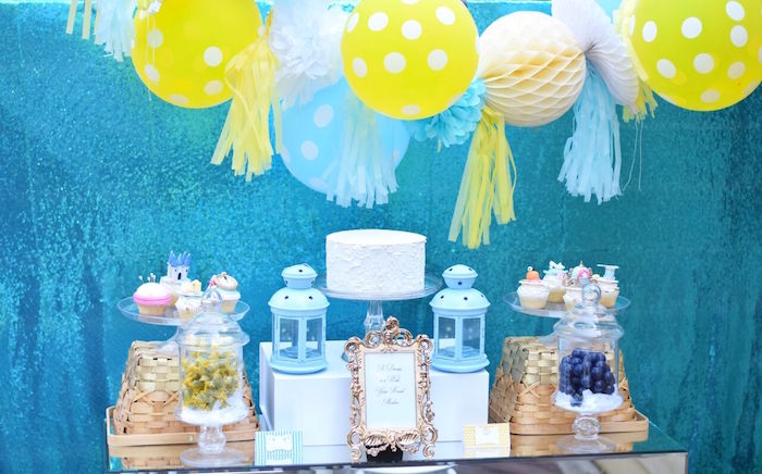 Dessert table from a Cinderella Birthday Party on Kara's Party Ideas | KarasPartyIdeas.com (14)