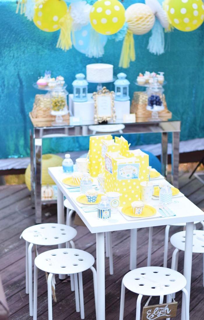 Karas Party Ideas Yellow Blue Cinderella Birthday Party Karas