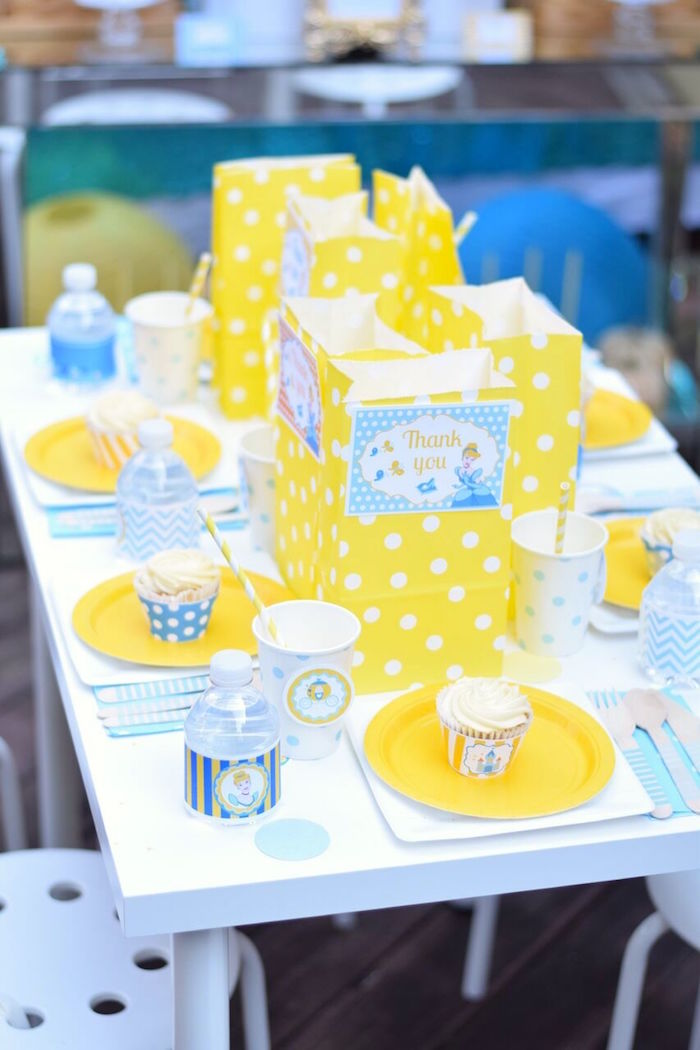 Guest table from a Cinderella Birthday Party on Kara's Party Ideas | KarasPartyIdeas.com (10)