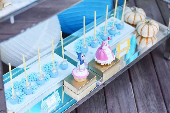 Cinderella sweet spread from a Cinderella Birthday Party on Kara's Party Ideas | KarasPartyIdeas.com (8)