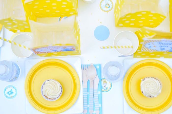 Guest tabletop from a Cinderella Birthday Party on Kara's Party Ideas | KarasPartyIdeas.com (5)