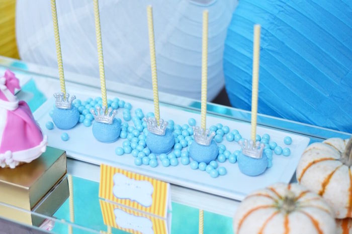 Royal cake pops from a Cinderella Birthday Party on Kara's Party Ideas | KarasPartyIdeas.com (4)