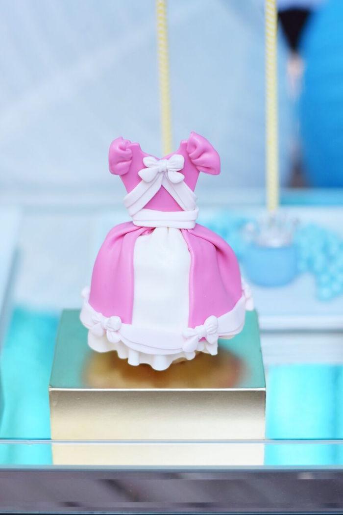 Cinderella gown cake pop from a Cinderella Birthday Party on Kara's Party Ideas | KarasPartyIdeas.com (41)