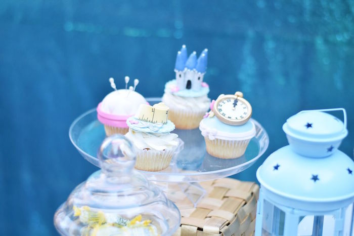 Cinderella cupcake from a Cinderella Birthday Party on Kara's Party Ideas | KarasPartyIdeas.com (37)