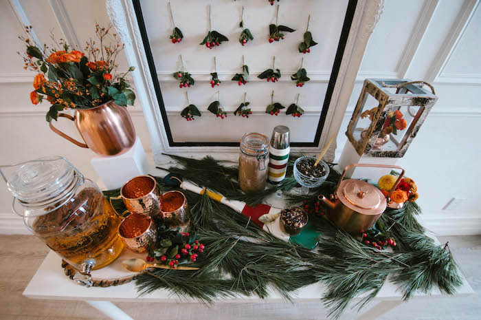Tabletop view from a Cozy Winter Party on Kara's Party Ideas | KarasPartyIdeas.com (34)