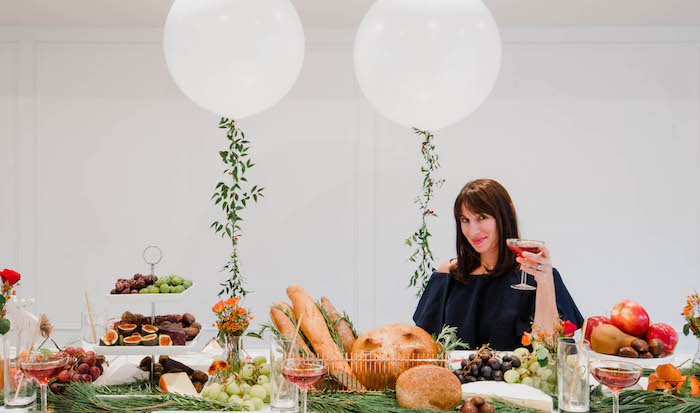 Food table with edible garland from a Cozy Winter Party on Kara's Party Ideas | KarasPartyIdeas.com (21)
