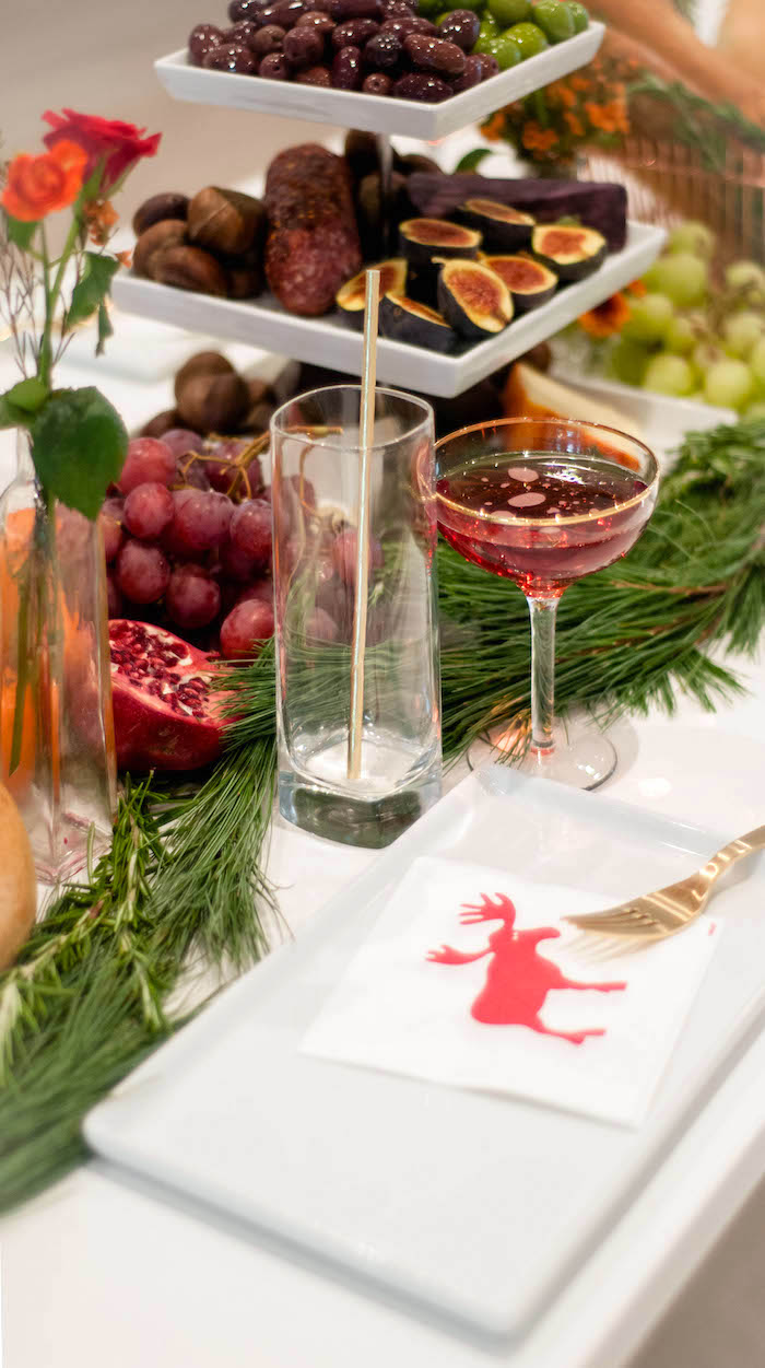 Place setting from a Cozy Winter Party on Kara's Party Ideas | KarasPartyIdeas.com (12)