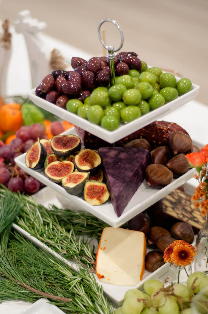 Fruit, cheese and meat platter from a Cozy Winter Party on Kara's Party Ideas | KarasPartyIdeas.com (5)