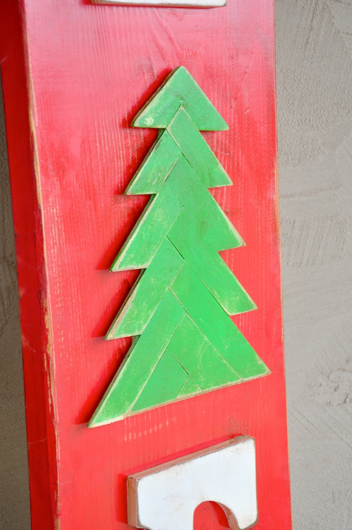 DIY Vintage Inspired Wooden Wood Tree Farm Sign for Christmas by Kara's Party Ideas | KarasPartyIdeas.com