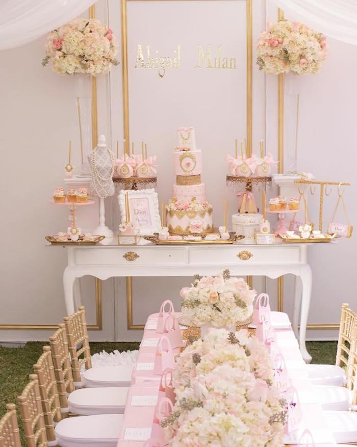 Kara S Party Ideas Royal Princess First Birthday Party: Kara's Party Ideas Diamonds & Dior 1st Birthday Party
