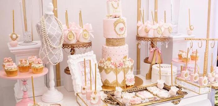 Kara S Party Ideas Diamonds Amp Dior 1st Birthday Party